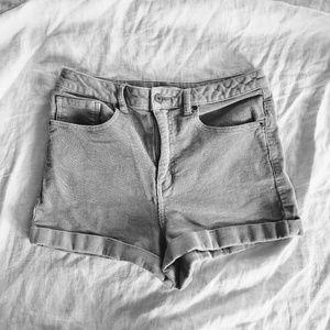 High Waisted Corduroy Shorts